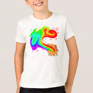 arc-en-ciel de dragon t-shirt