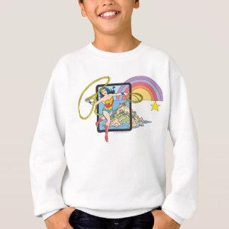 Arc-en-ciel de femme de merveille sweatshirt
