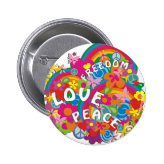 Arc-en-ciel de flower power badges