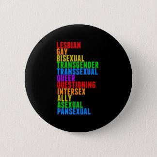 Arc-en-ciel de gay pride de LGBTQQIAAP Badge