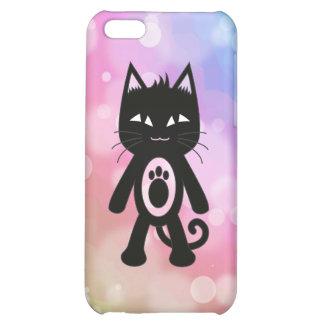 Arc-en-ciel de Kawaii et chat noir Coque Pour iPhone 5C