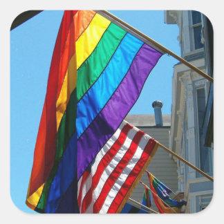 Arc-en-ciel de LGBT et autocollants de drapeaux