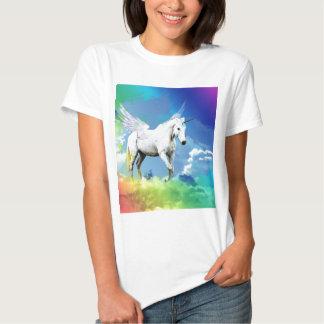 Arc-en-ciel de licorne t-shirts