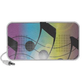 arc-en-ciel de musique haut-parleur ordinateur portable