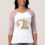 Arc-en-ciel de paix t-shirts
