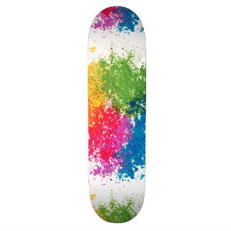 Arc-en-ciel de poudre de couleur skateboard