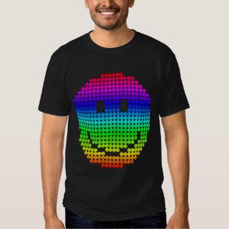 Arc-en-ciel de smiley de Borg T-shirts
