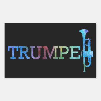 Arc-en-ciel de trompette autocollant rectangulaire
