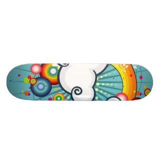 arc-en-ciel de vecteur mini skateboard 18,4 cm