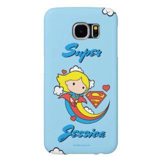 Arc-en-ciel de vol de Chibi Supergirl