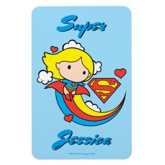 Arc-en-ciel de vol de Chibi Supergirl Magnet