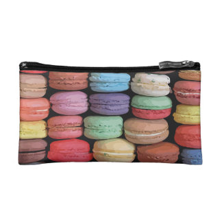 Arc-en-ciel des biscuits empilés de Macaron de Trousses Make-up