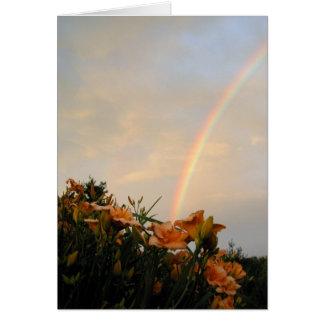 Arc-en-ciel d'hémérocalle carte de vœux