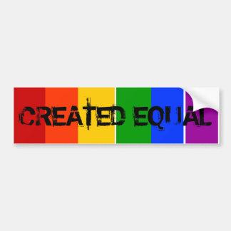 ARC-EN-CIEL ÉGAL CRÉÉ DE L'HOMOSEXUEL LGBT AUTOCOLLANT DE VOITURE