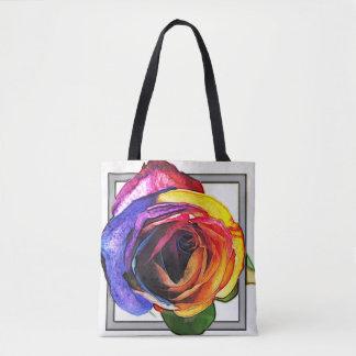 Arc-en-ciel Fourre-tout rose Tote Bag