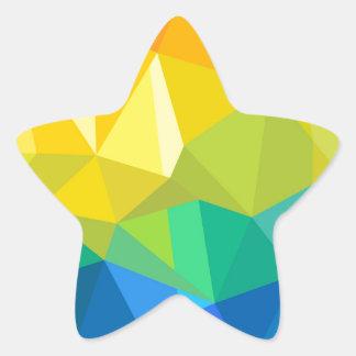 Arc-en-ciel géométrique sticker étoile