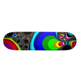 Arc-en-ciel globulaire - fractale mini skateboard 18,4 cm