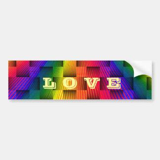 Arc-en-ciel Love_ Autocollant Pour Voiture