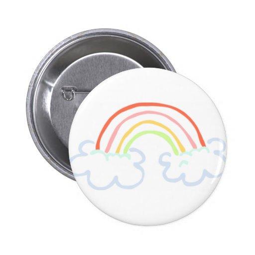 Arc-en-ciel mignon badge