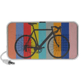 Arc-en-ciel multicolore rayé de vélo haut-parleurs mobiles