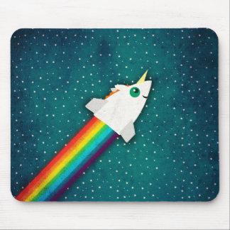 Arc-en-ciel Rocket de licorne Tapis De Souris