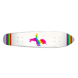 ARC-EN-CIEL VINTAGE WHTE de LICORNE du TIGRE 80s Skateboards Personnalisables