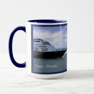 Arc lisse de bateau de croisière personnalisé mugs