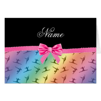 Arc nommé personnalisé de rose de gymnastique cartes de vœux