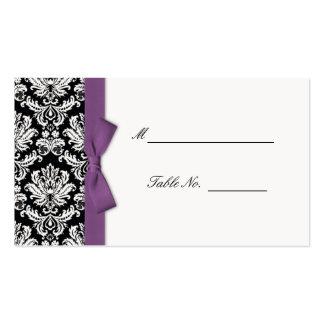 Arc pourpre mariage damassé Placecards Modèles De Cartes De Visite
