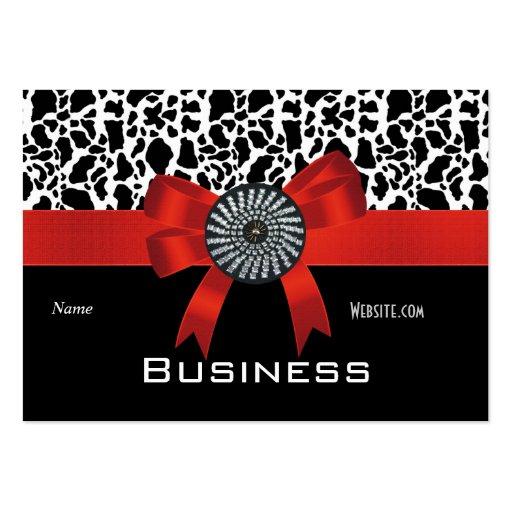 arc rouge blanc de noir de poster de animal de carte de visite grand format zazzle. Black Bedroom Furniture Sets. Home Design Ideas