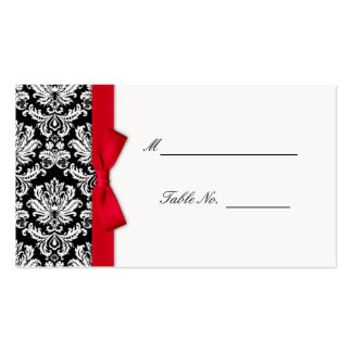 Arc rouge mariage damassé Placecards Modèles De Cartes De Visite