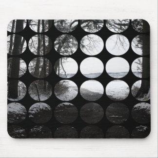 Arcade de forêt de pois d hiver tapis de souris