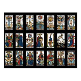 Arcana importants de tarot cartes postales