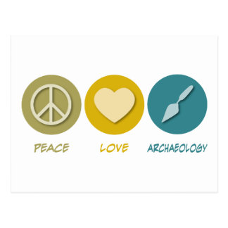 Archéologie d'amour de paix carte postale