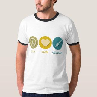 Archéologie d'amour de paix t-shirt