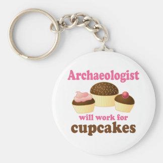 Archéologue drôle porte-clé rond