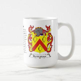 Archer, l'origine, la signification et la crête mug blanc