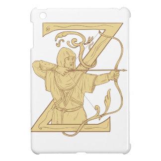 Archer médiéval visant l'aspiration de la lettre Z Coques iPad Mini