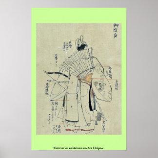 Archer Ukiyo-e. de guerrier ou de noble Posters