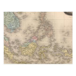 Archipel de l'Indochine de l'Asie Carte Postale