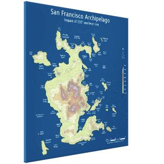 "Archipel de San Francisco, 200' hausse 32"" de Toiles"