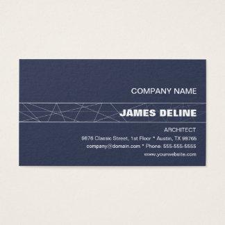 Architecte blanc bleu minimaliste cartes de visite