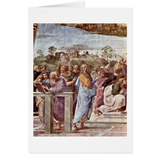 Architecte Bramante avec le livre par Raffaello Sa Cartes De Vœux
