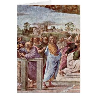 Architecte Bramante avec le livre par Raffaello Sa Carte De Vœux