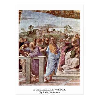 Architecte Bramante avec le livre par Raffaello Sa Cartes Postales
