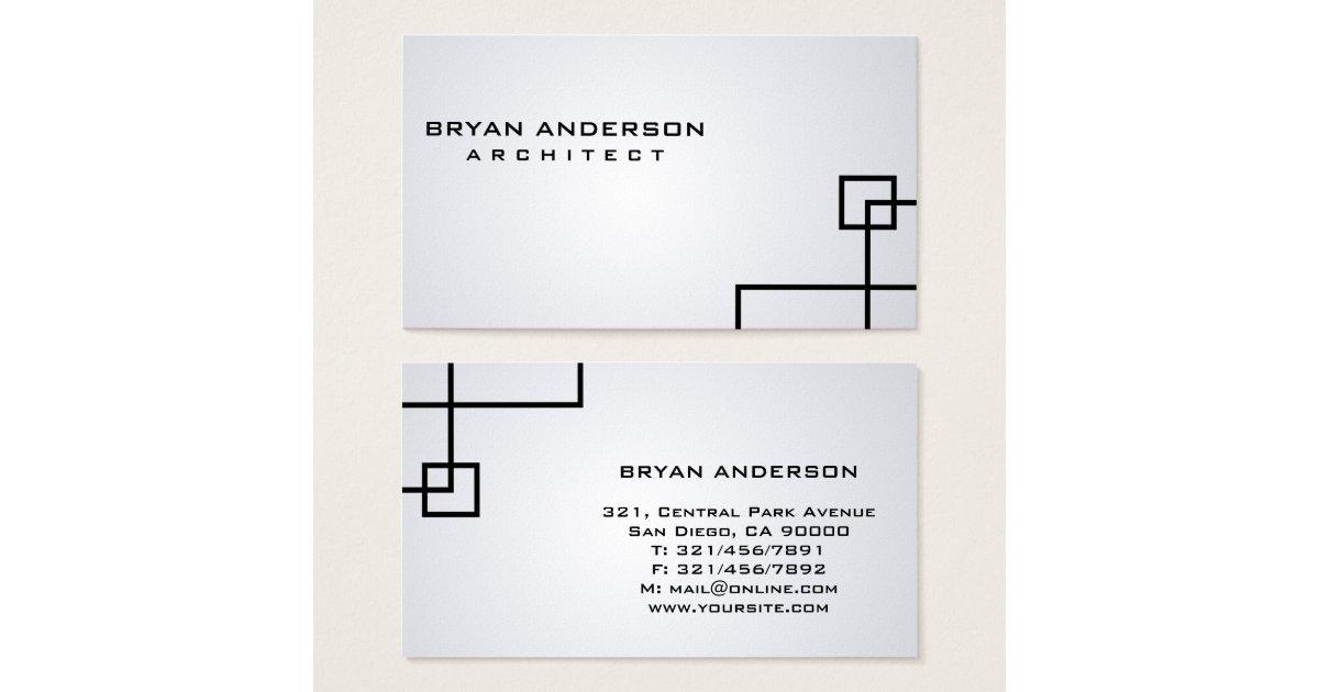 architecte cartes de visite zazzle. Black Bedroom Furniture Sets. Home Design Ideas