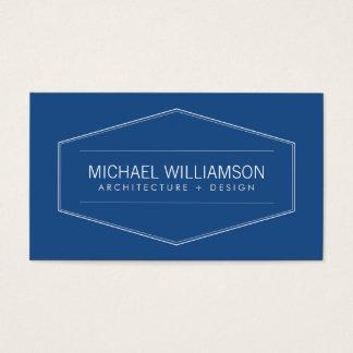 Architecte moderne vintage d'emblème, constructeur cartes de visite
