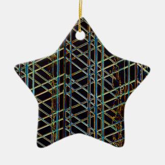 Architecture abstraite ornement étoile en céramique