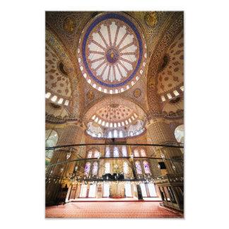 Architecture bleue d'intérieur de mosquée  tirage photo