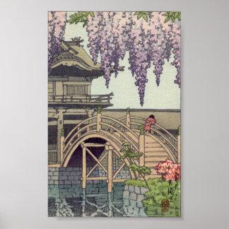 Architecture de Shinto, pont Kawase de Kameido Posters